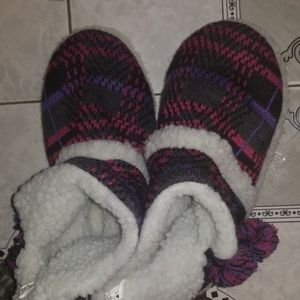 Shoes - Kimichi Blue Pom Pom Slipper Booties L 9.5-10.5